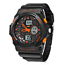 Dial Rubber Assista Homens Multi-Function Analog-Digital Rodada Banda de pulso (cores sortidas)