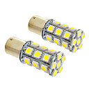 1156/BA15S 6W 24x5050SMD 490LM 5500-6500K Cool White Light LED pære for bil (12V, 2stk)