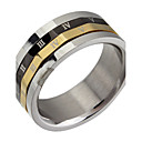 (1pc) Classic Man'S Tri-Colors Titanium Steel Band Ring