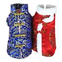 Precioso estilo chino Dragón Print Coat para Mascotas Perros caliente (una variedad de colores, de tamaños)