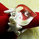 Heart Shape Wedding Napkin Ring Set Of 12,Acrylic Dia 4.5cm