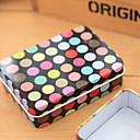 Rectangle Black Ground Colorful Dot Tin Box