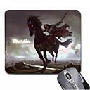 Personalizado Padrão Presente Cavalier Gaming Optical Mouse Pad Retangular (20.5x18cm)