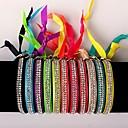 The Two Rows Diamond Multicolor Bracelet(12 PCS)