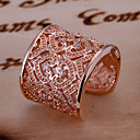 (1 Pc)Sweet Women's Gold Copper Ring(size adjustable)