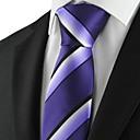 Striped Purple Black Mænds Tie Slips til bryllup ferie gave