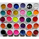 Buy 30-Color Pearlescent & Shimmer Glitter Colors Nail Art UV Builder Gel Manicure Nails Tips