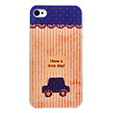 Small Cartoon Car Pattern PC Material Hard Case for iPhone 4/4S