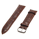 Unisex 22mm Bamboo Grain Genuine leather Watch Band (Assorted Colors)