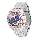 Men's RETEO Round Dial Analog Quartz Steel Band Water Ressistant Wrist Watch