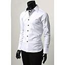 Neformální Slim Fit Stylové Long Sleeve Shirt Pánské