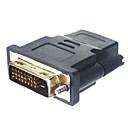 DVI 24 +1 macho adaptador convertidor HDMI Para Mujer Oro (Negro)