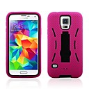 2 in 1 Robot Style PC and Sillcone Composite Case with Stand for Samsung Galaxy S5 I9600(Assorted Colors)