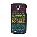 Elonbo J4F Classic Quotations Hard Back Case Cover for Samsung Galaxy S4 I9500