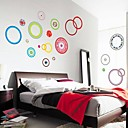 Still Life Wall Stickers Doudouwo® Romance Color Circle Art Wall Decal