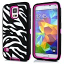 2 in 1 Zebra Robot Style PC and Sillcone Composite Case  for Samsung Galaxy S5 I9600(Assorted Colors)