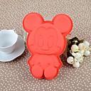 17CM * 12.5CM * 3cm Der ganze Körper Red Mickey Silikon-Kuchen-Backformen Mould