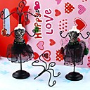 Fashion Beauty Figure Jewelry Display Stand For Earrings (Black) (1pc)