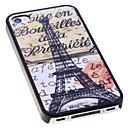 Classic Eiffeltårnet Mønster Tilbage Case for iPhone 4/4S