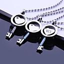 Personalizované dárky a láska Key Shaped z nerezové oceli šperky ryté náhrdelník s přívěskem s 60cm řetězec