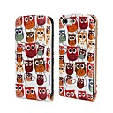 Flip Designad Colorful Owl Mönster PU Leather Soft Case för iPhone 5/5S