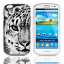 Tiger Pattern Hard Case with 3-Pack Screen Protectors for Samsung Galaxy S3 I9300