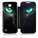 Gato Leather Case Ojo de cuerpo completo para Samsung Galaxy S4 Mini I9190