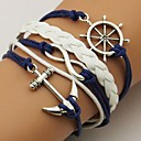 shixin® etnische Chaine met anker en ruddeer decoratie 16cm vrouwen goud legering wrap armband (1 st)