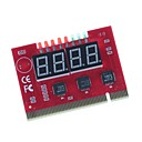 ZD02 4-numeroinen näyttö Emolevy vianmääritys PCI / PCI-E Tietokone testikortin