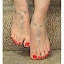 Shixin® Classic Flower Shape Bead Silver Alloy Barefoot Sandal(1 Pc)