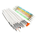 20PCS Nail Art Suits(15PCS Nail Art Painting Brush Kits&5PCS 2-Way Nail Art Dotting Tools Kits)