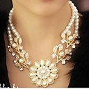 Buy Necklace Pearl Power / Jewelry Wedding Party Daily Casual Flower Vintage Fashion White 1pc Gift