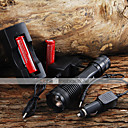 Buy 2000LM CREE XM-L T6 5 Mode Zoom LED Flashlight + 2x18650 Battery Car Charge
