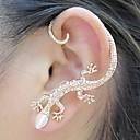 baoguang®1pcs schönen Zirkon-Legierung Gecko Muster Ohrringe