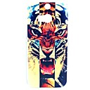 Angery Cross Tiger Pattern Hard Case for HTC One 2 M8