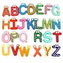 Roliga Magnetic Alphabet 26 Letters trä kylskåps magneter Educational Kids Toy (26-pack)