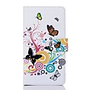 O teste padrão colorido da borboleta PU Leather Case Full Body com slot para cartão de T2 Sony
