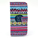Hakuna Matata Tribal Carpet Pattern PU Leather Full Body Case with Card Slot Stand for LG Nexus 5