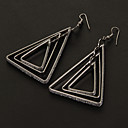 Buy Fashion Frosting Triangle Shape Alloy Drop Earrings(More Color) (1 Pair)
