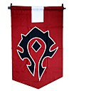 Buy Cosplay Accessories Inspired WOW Anime/ Video Games Flag Red Terylene Male
