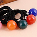Korean Round Acrylic Candy Ball Fabric Hair Ties For Women(Random Colors)(1 Pc)
