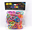 BaoGuang®600PCS Rainbow Color Loom Colorful Fashion Loom Rubber Band(1Package S Clip)