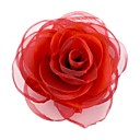 Fashion Elegant Cube Cotton Rose Flower Women's Brooch