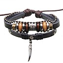 Buy Men's Pendant Jewelry Beads Leather Braided Bracelets Christmas Gifts