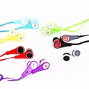Colorful Noodles 3,5 mm in-ear hörlurar hörlurar hörlurar med mikrofon för Apple iPad iPhone iPod
