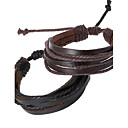 Buy Leather Bracelet Fashion Simple Style Hemp Rope Braided Chain Unisex Cuff Bracelets Couple Jewelry Christmas Gifts