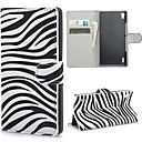 Zebra Stripes PU Leather Wallet Case with Stand and Card Slot for Huawei Ascend P7