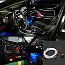 Marsing 3D Voice Control Flexible Car Decoration 2W 150lm 7500K Ice Blue Light EL Strip - (DC 12V / 5M)