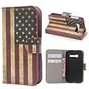 amerikai zászló usa bőr pénztárca esetében állvánnyal és kártyanyílás Alcatel One Touch pop c5