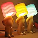 2 개 수줍은 소년 디자인 따뜻한 화이트 테이블 램프 (모듬 색상)를 주도